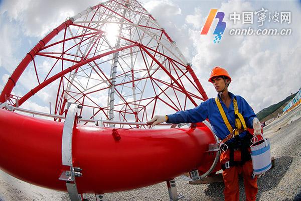 """世界第一输电高塔今日披上宁波制造的""""防腐外衣"""""""