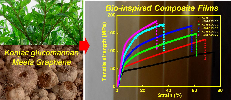 仿珍珠层结构高强度天然高分子/氧化石墨烯纳米复合薄膜