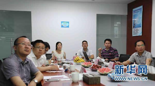 新华网一行在中蓝科技调研湖南石墨烯产业