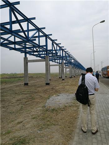 如东洋口港23公里管廊架工程采用石墨烯重防腐涂料