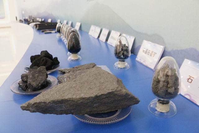 永安市石墨和石墨烯产业园展厅展示的样品——林丹摄影.JPG