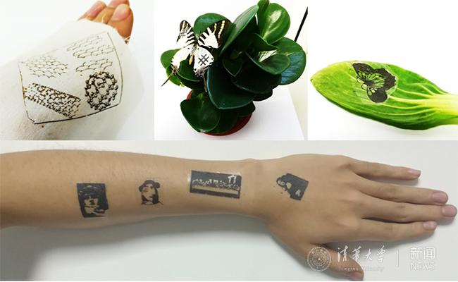 清华微纳电子系任天令团队在纹身式电子皮肤方面取得突破