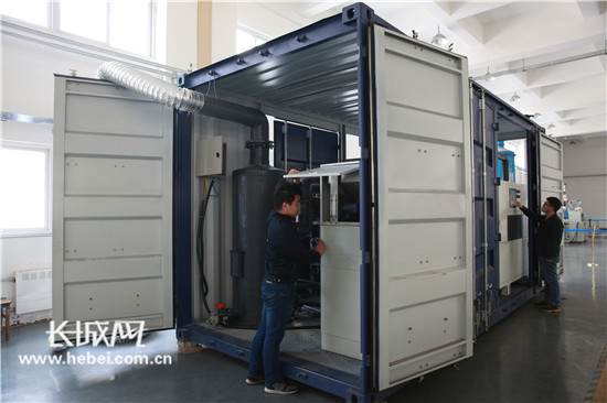 国内首个智能海洋溢油及危化品应急清理装备在秦皇岛研制成功
