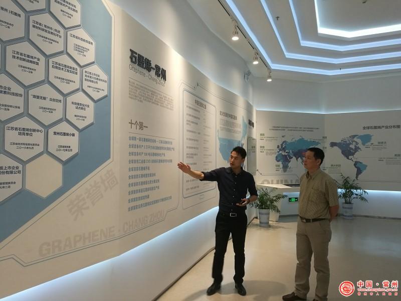 经信委:湖南省经信委来常州市调研碳材料产业