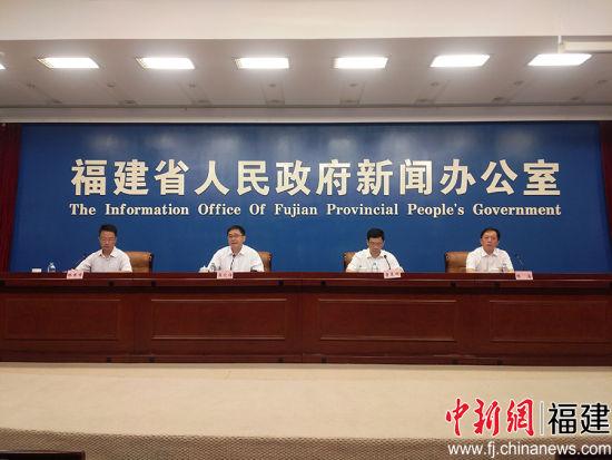 中国(永安)石墨烯创新创业大赛新闻发布会现场 。 翁一灵 摄