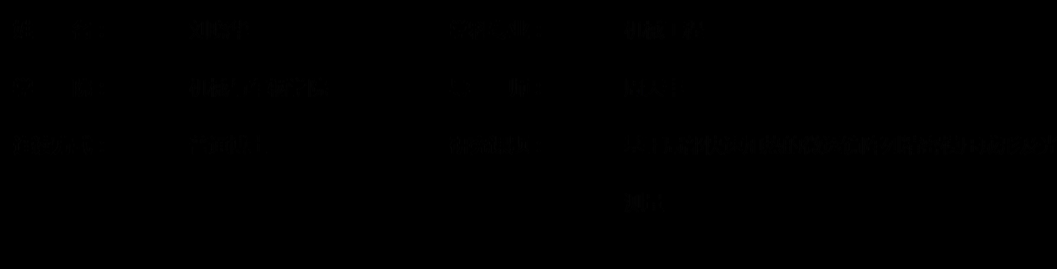 【优博育苗展】北理工机械与车辆学院刘晓华博士荣获:2018年度博士育苗基金