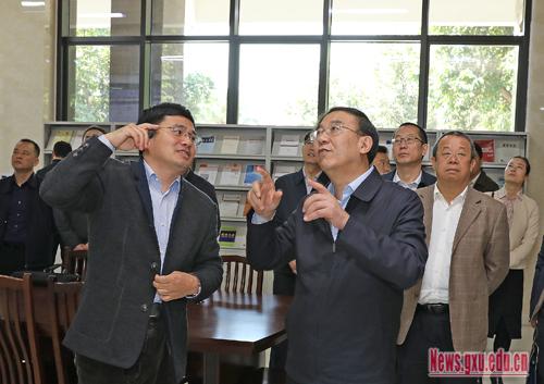 甘肃省副省长李沛兴一行来广西大学考察