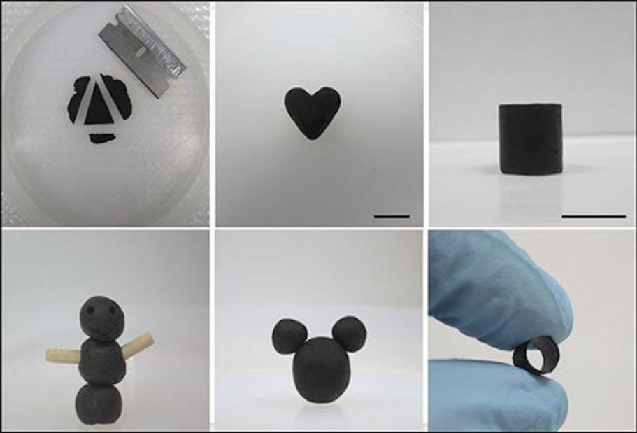 """石墨烯可以像""""培乐多""""黏土一样模塑成任何形状"""