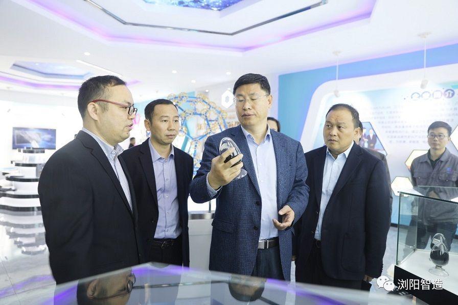 北京石墨烯研究院院长刘忠范一行到浏阳高新区考察