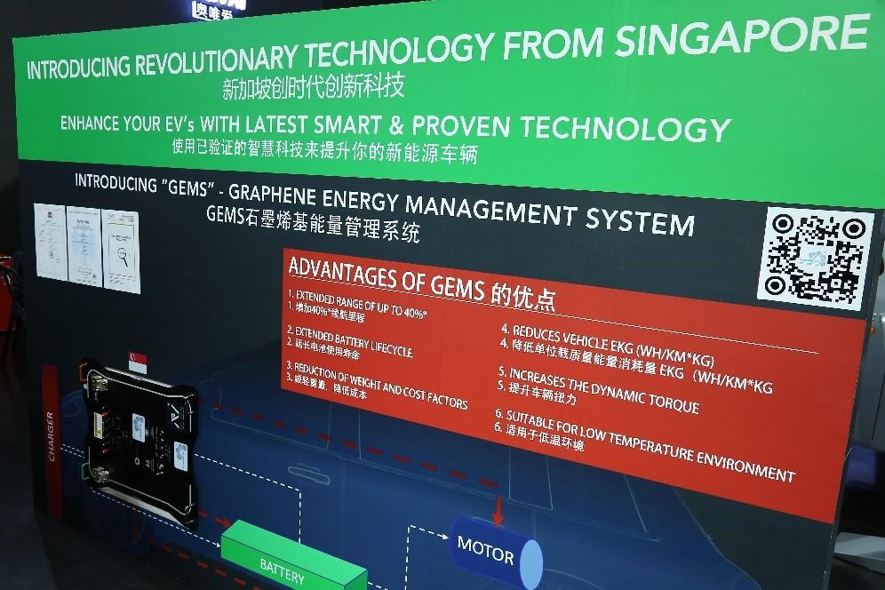 GEMS石墨烯基能量管理系统在2018广州车展展出