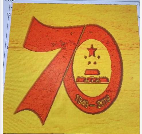 """高校学生用显微镜扫描探针绘""""70图案""""祝国庆"""