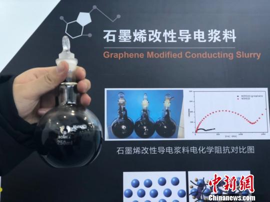 宁夏汉尧石墨烯投产石墨烯改性导电浆料。 额丽其格 摄
