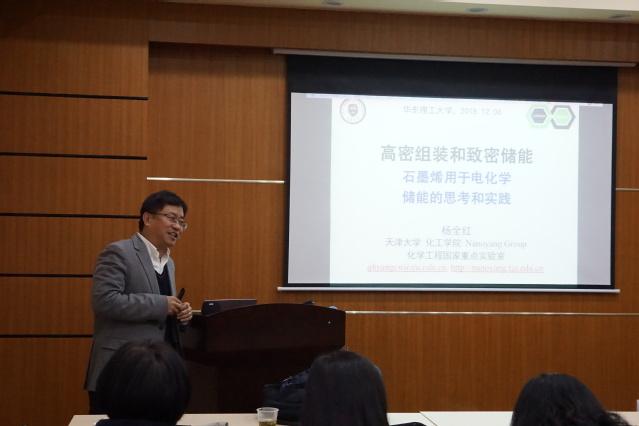 天津大学杨全红教授来华东理工大学作学术报告
