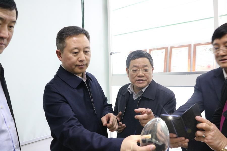 鹤岗市委书记张恩亮一行莅临本征方程参观访问