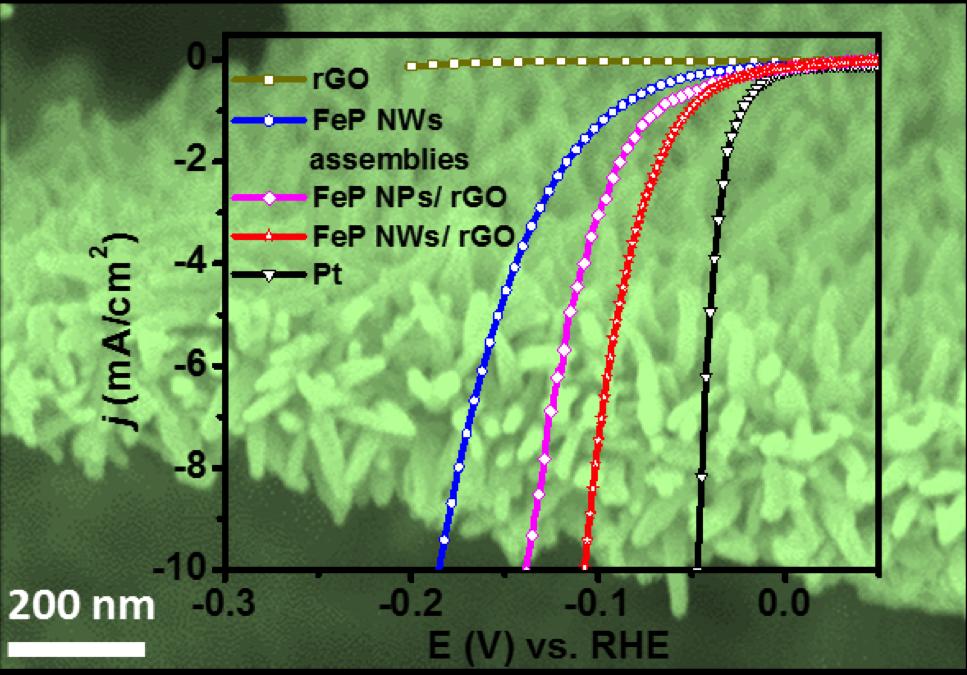 二维石墨烯负载的具有微孔结构的FeP纳米线阵列用作高效析氢电催化剂