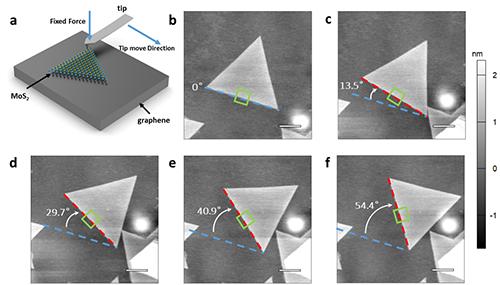 转角二硫化钼/石墨烯异质结的垂直电导测量