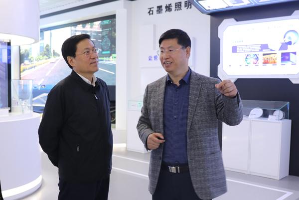 北京市科委党组书记、主任许强带队赴北京石墨烯研究院调研
