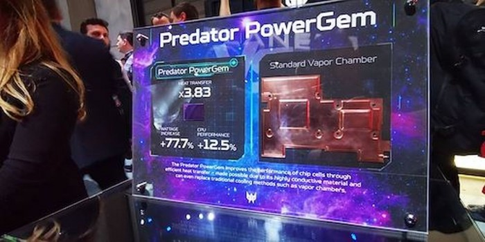 比石墨烯更强?宏碁展示笔电专用散热材料Predator PowerGem
